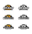 car towing logo template vector image