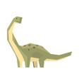 cartoon hypsilophodon dinosaur character jurassic vector image vector image