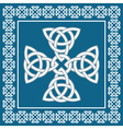 Celtic cross ornament symbolizes eternity vector image vector image