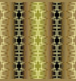 checkered ornate greek key meander 3d seamless vector image vector image