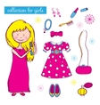 Collection for girls vector image