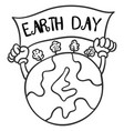 collection of earth day hand draw vector image vector image