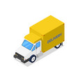 Container truck isometric 3d icon