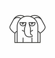 cute elephant icon on white background vector image