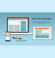 devices responsive web design vector image vector image