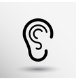 ear icon listen hear deaf human sign vector image vector image