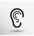 ear icon listen hear deaf human sign vector image vector image