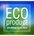 Eco Product poster abstract background vector image vector image