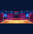 empty basketball arena sport stadium vector image