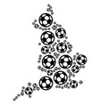 england map collage of soccer spheres vector image vector image