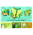 environmental restoration horizontal banners vector image vector image