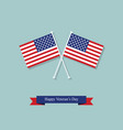 flags and ribbon on the day of americas veterans vector image vector image