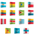 flags - south america vector image vector image