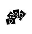 game cards - poker icon vector image