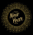 golden card new year vector image