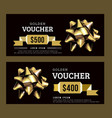 golden gift voucher abstract template gold on vector image vector image