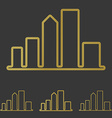Golden line city logo design set vector image vector image