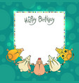 greeting children card with wishes for a vector image vector image