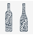 Hand lettering bottle of wine vector image
