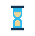 hourglass time isolated icon vector image vector image