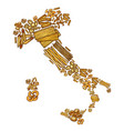 italy map with pasta vector image vector image