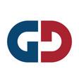letter gd logo design vector image vector image