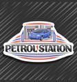 logo for petrol station vector image