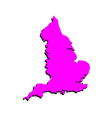 map silhouette england vector image