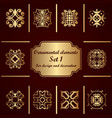 ornamental elements set template for design and vector image vector image