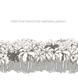 Palm tree horizontal pattern colorless vector image vector image