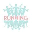 people run runner marathon running vector image vector image