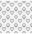 Poker line pattern vector image vector image
