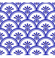 porcelain seamless pattern vector image vector image