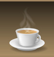 realistic cappuccino beverage cup vector image
