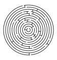 round maze vector image vector image