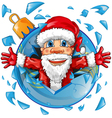 santa claus with christmas ball vector image