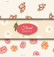 seamless floral pattern set romantic vector image vector image