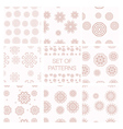 Set of geometrical patterns vector image vector image
