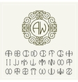 Set template to create monograms of two letters vector image vector image