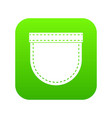 shirt pocket icon digital green vector image vector image