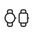 smart watches simple line style icons vector image vector image