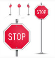 Stop road sign vector image vector image