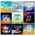 summer designs on tropical beach night life vector image vector image