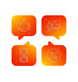 teamwork presentation and hourglass icons vector image