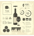 thin line vintage wine infographic vector image