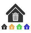 trash house icon vector image