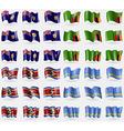 Turks and Caicos Zambia Swaziland Aruba Set of 36 vector image vector image