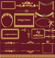 vintage frames collection gold victorian borders vector image
