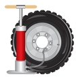 Wheel of the car and pump vector image vector image