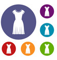 woman dress icons set vector image vector image